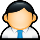 128x128px size png icon of User Administrator Blue