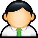 128x128px size png icon of User Administrator Green