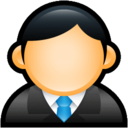 128x128px size png icon of User Executive Blue