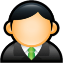 128x128px size png icon of User Executive Green