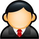 128x128px size png icon of User Executive Red
