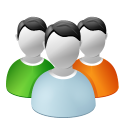 128x128px size png icon of User group
