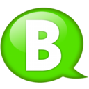 128x128px size png icon of Speech balloon green b