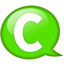 128x128px size png icon of Speech balloon green c