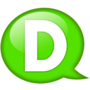 128x128px size png icon of Speech balloon green d
