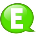 128x128px size png icon of Speech balloon green e