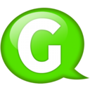 128x128px size png icon of Speech balloon green g