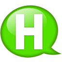 128x128px size png icon of Speech balloon green h