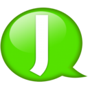 128x128px size png icon of Speech balloon green j