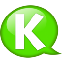 128x128px size png icon of Speech balloon green k