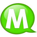 128x128px size png icon of Speech balloon green m