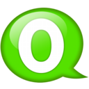 Speech balloon green o Icon