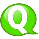 128x128px size png icon of Speech balloon green q