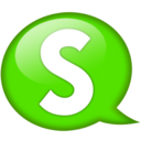Speech balloon green s Icon