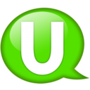 128x128px size png icon of Speech balloon green u