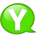 128x128px size png icon of Speech balloon green y