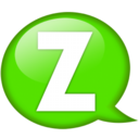 128x128px size png icon of Speech balloon green z