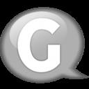 128x128px size png icon of Speech balloon white g