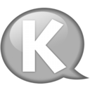 Speech balloon white k Icon