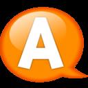 128x128px size png icon of Speech balloon orange a