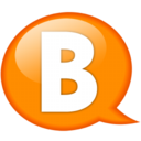 128x128px size png icon of Speech balloon orange b