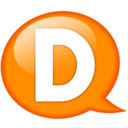 128x128px size png icon of Speech balloon orange d