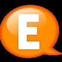 128x128px size png icon of Speech balloon orange e