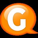 128x128px size png icon of Speech balloon orange g