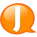 Speech balloon orange j Icon