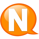 128x128px size png icon of Speech balloon orange n