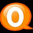 128x128px size png icon of Speech balloon orange o