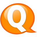 128x128px size png icon of Speech balloon orange q