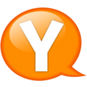 128x128px size png icon of Speech balloon orange y