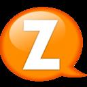 128x128px size png icon of Speech balloon orange z