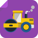 128x128px size png icon of tractor