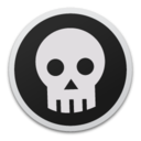 128x128px size png icon of Skull bw