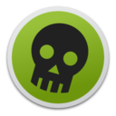 128x128px size png icon of Skull green