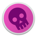 128x128px size png icon of Skull magenta
