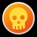 128x128px size png icon of Skull orange