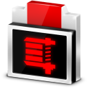 128x128px size png icon of File Zip Rar Archive