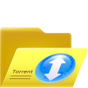 128x128px size png icon of open torrent folder