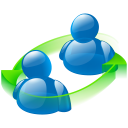 128x128px size png icon of peer to peer