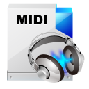 128x128px size png icon of filetype midi