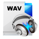 128x128px size png icon of filetype wav sound