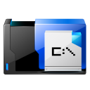 128x128px size png icon of folder msdos application