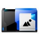 128x128px size png icon of folder pictures