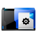 128x128px size png icon of folder preferences