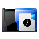 128x128px size png icon of folder scheduled tasks