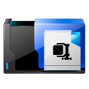 128x128px size png icon of folder zip