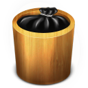 128x128px size png icon of Trash Wood Full